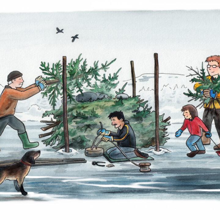 is,människor,barn,män,hund,ris