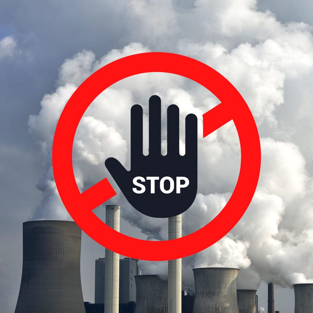 rök, kolkraftverk, stopp, sluta, kolkraft, fossilfri