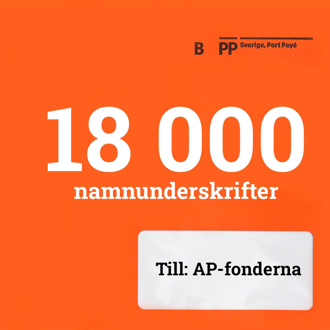 orange, kuvert, fossilfri, pension, namnunderskrifter, underskrifter, AP-fonderna