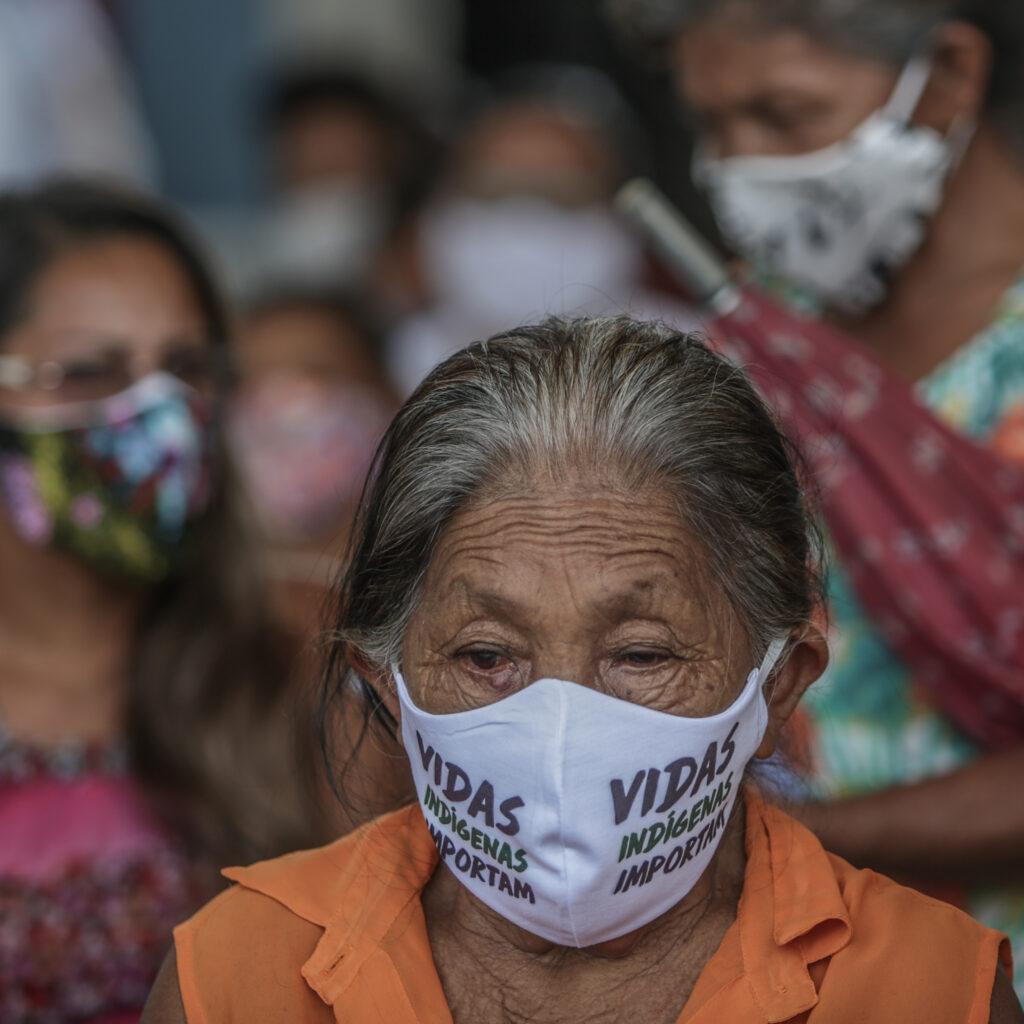 Munskydd, corona, pandemi, covid-19, urfolk, Brasilien, Amazonas