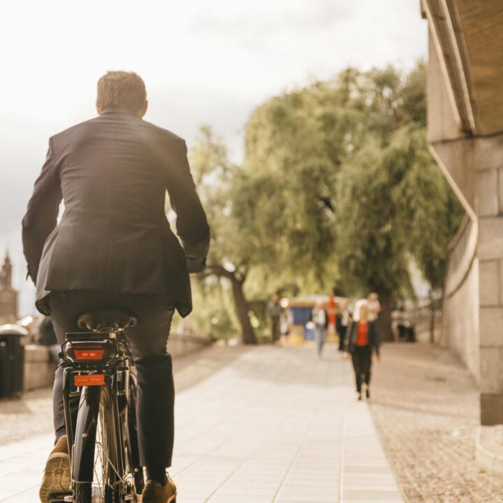 Cykel, staden, miljö, energi, träd, natur, man, jobbet, kvinna, byggnaden, grön, molnig