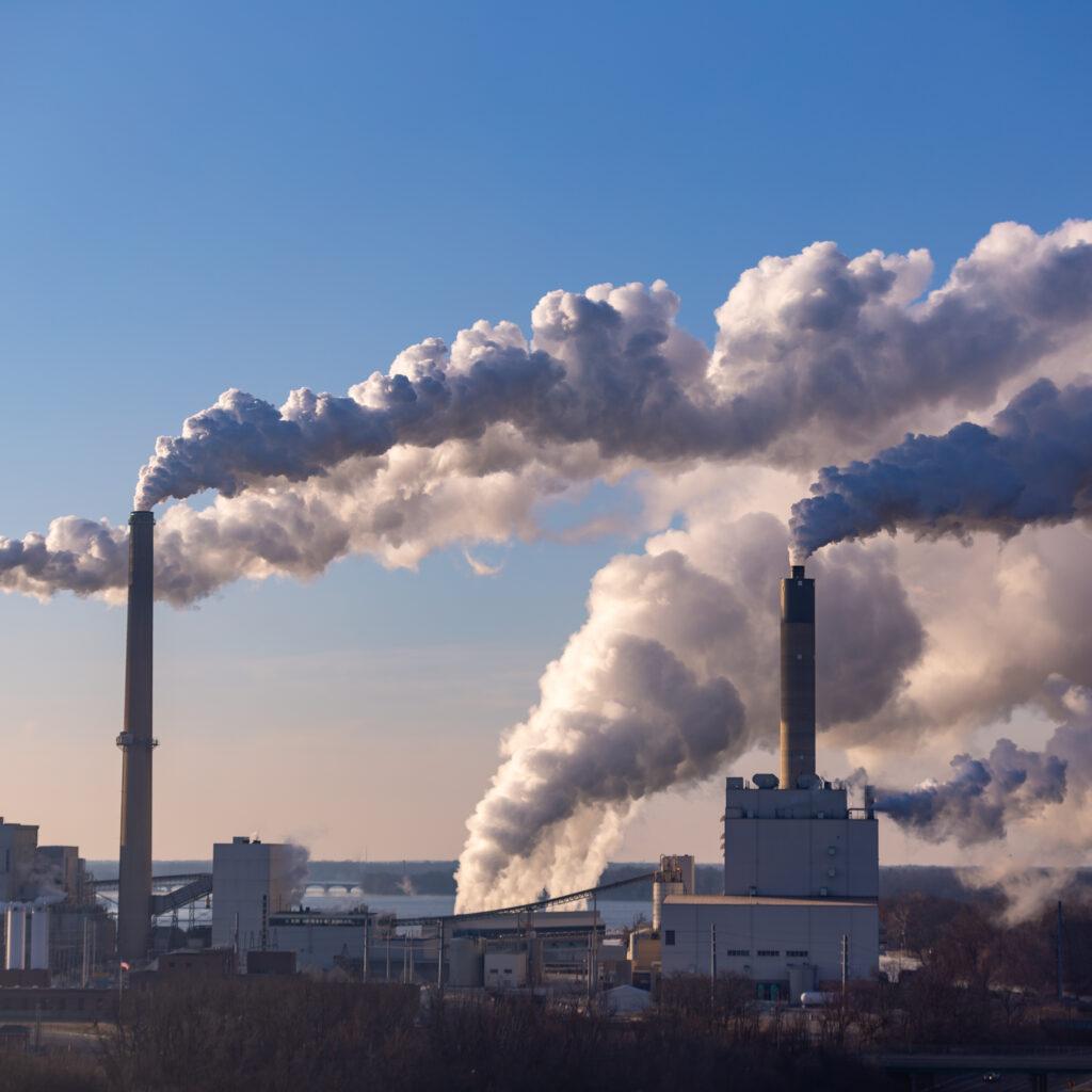 Industri, utsläpp, kontamination, klimat, energi, produktion, himmel, staden, natur, byggnader