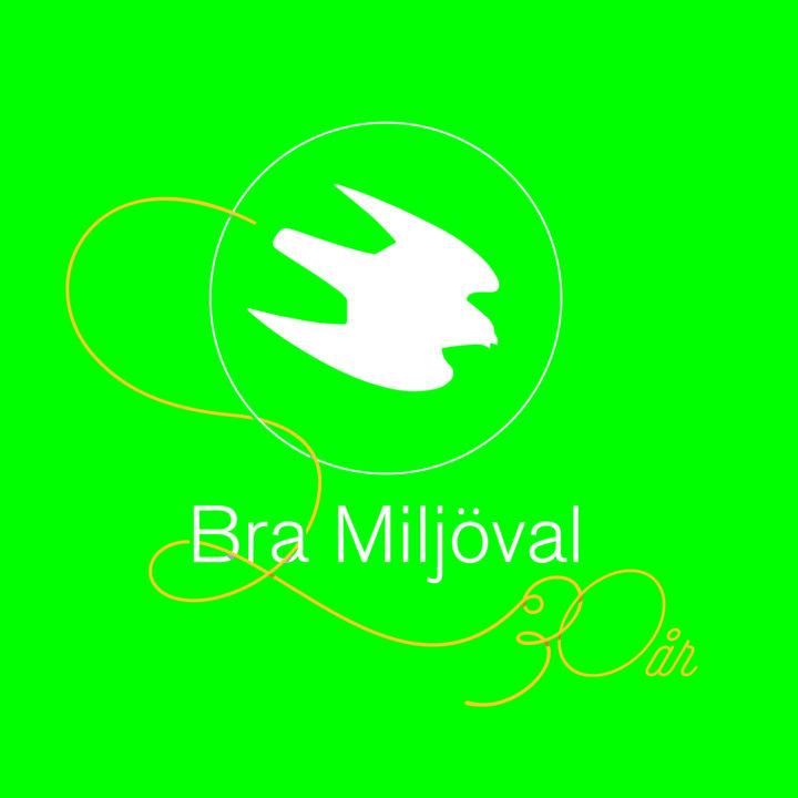 logga, logo, logotyp, bramiljöval, 30år, pilgrimsfalk, miljömärkning, jubileum
