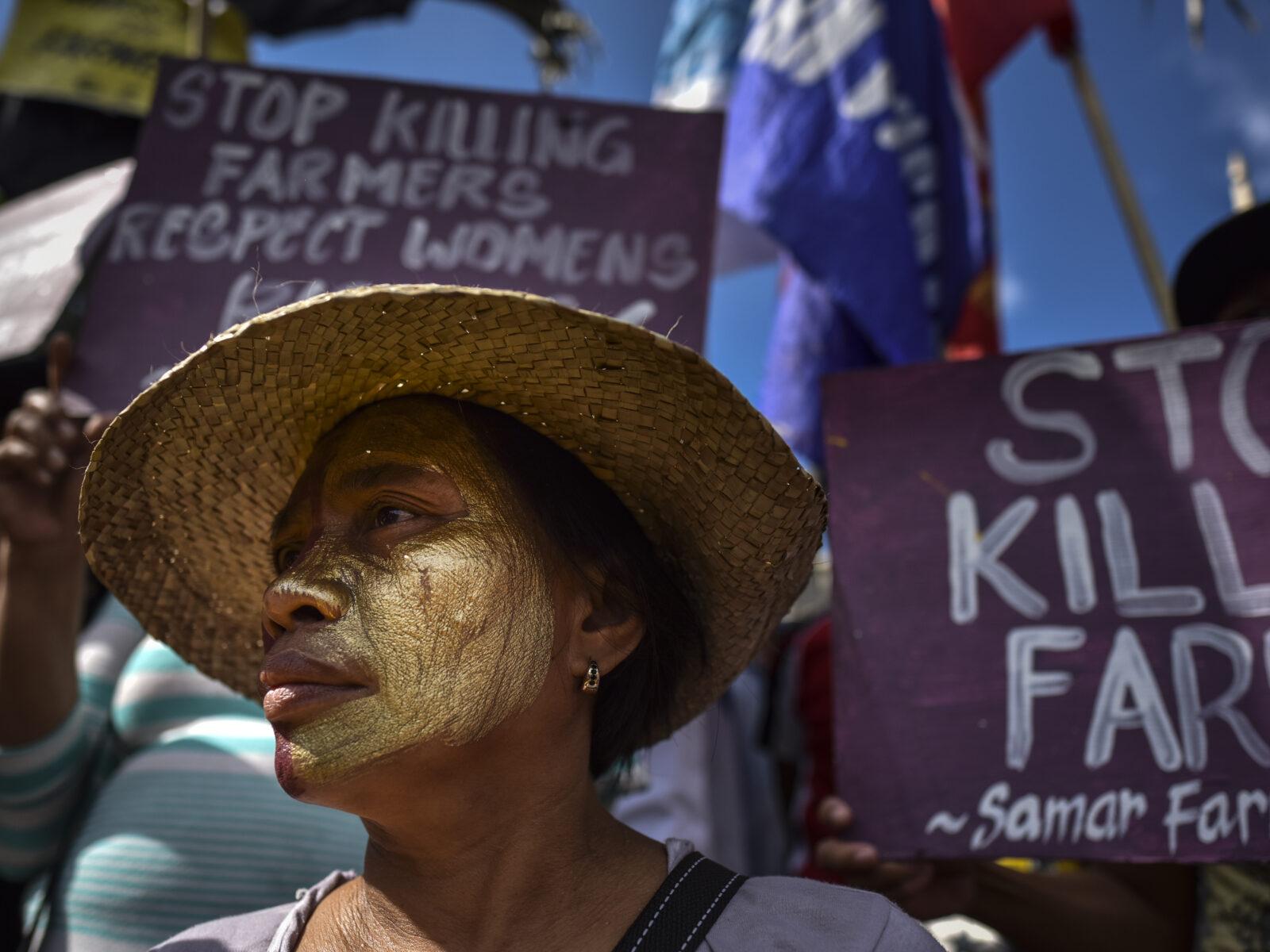 Manila, Protest, Demonstration, Filippinerna, 8 mars, Internationella kvinnodagen, Bönder, Farmers