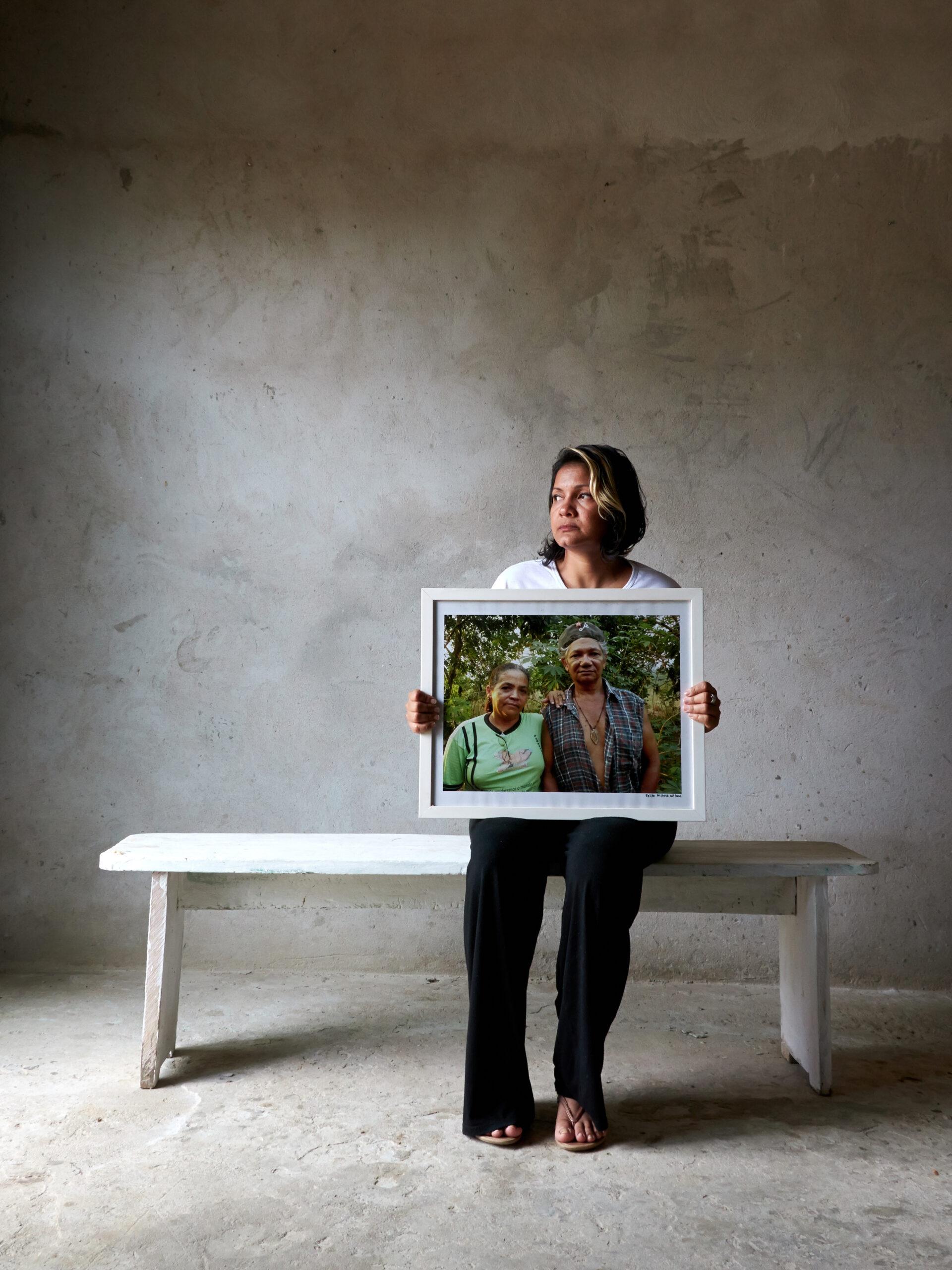 Miljöförsvarare med porträtt