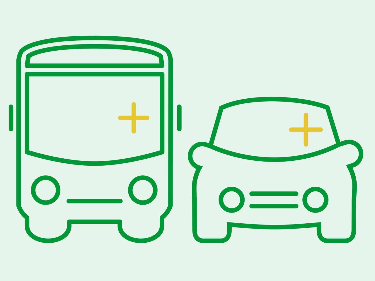 persontransport, persontransport, resa, resor, tåg, buss, taxi, båt, spår, tunnelbana, kollektivtrafik, trafik, ikon, miljömärkning