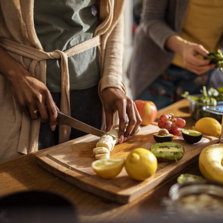 Köket, förkläder, mat, frukt, grönsaker, middagen, lunch, hemma