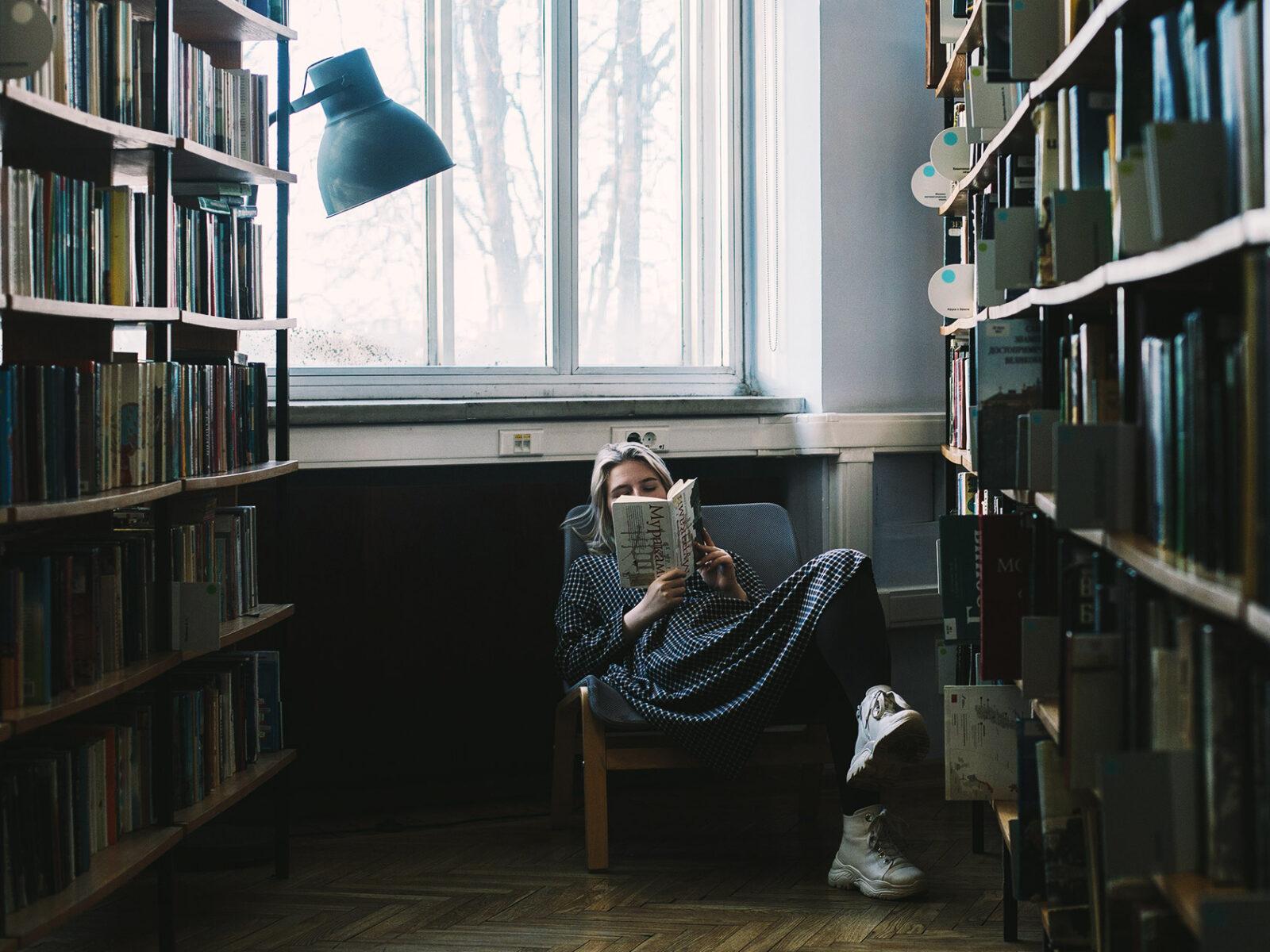 bibliotek, läsa, böcker