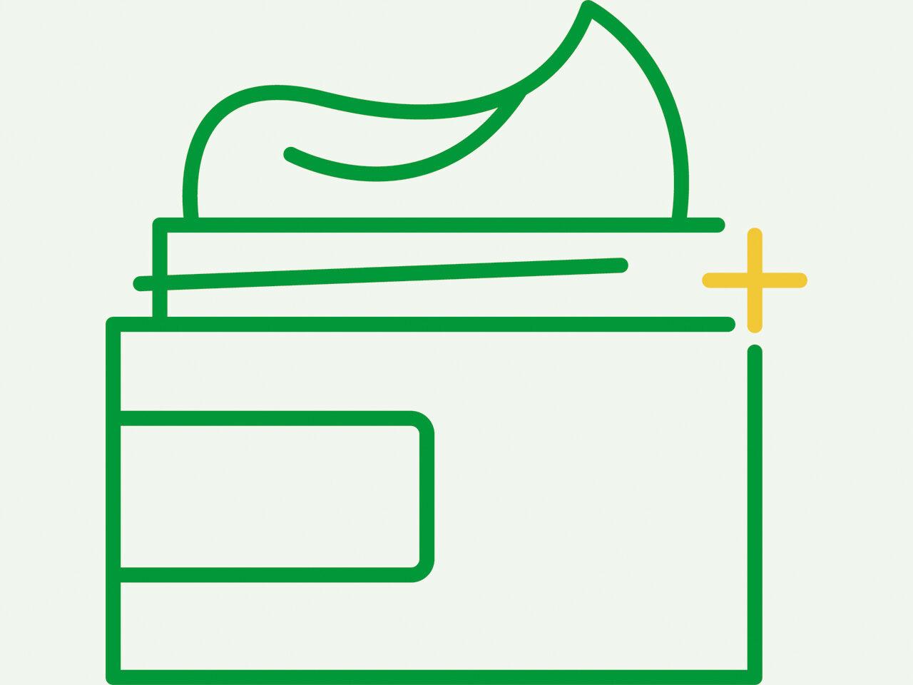 ikon, kosmetika, märkningsområde, produktområde, verksamhetsområde
