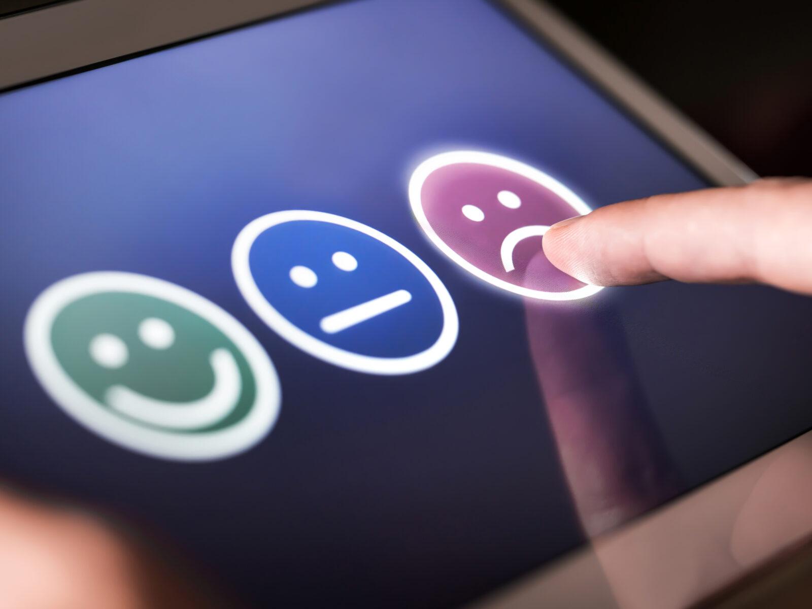 digital, undersökning, glad gubbe,sur gubbe,kundundersökning