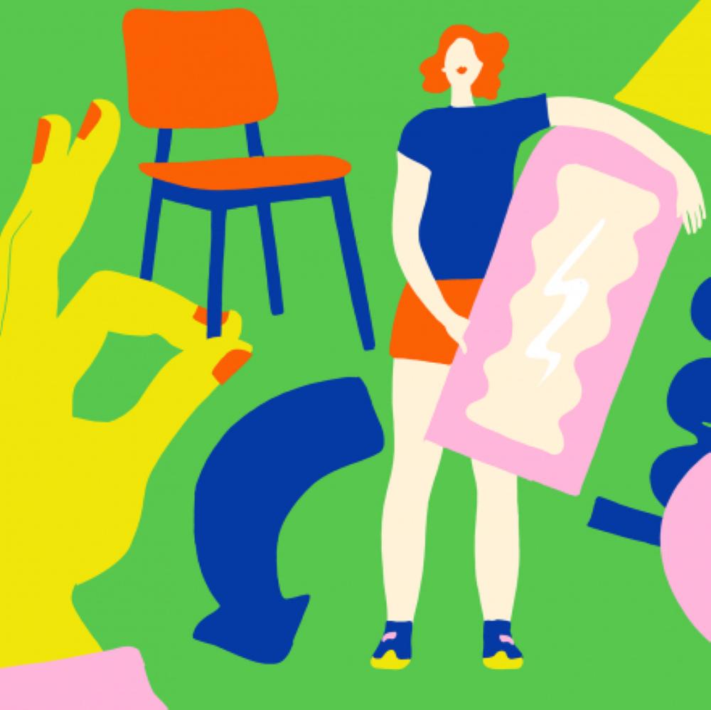 Illustration, hållbar konsumtion,