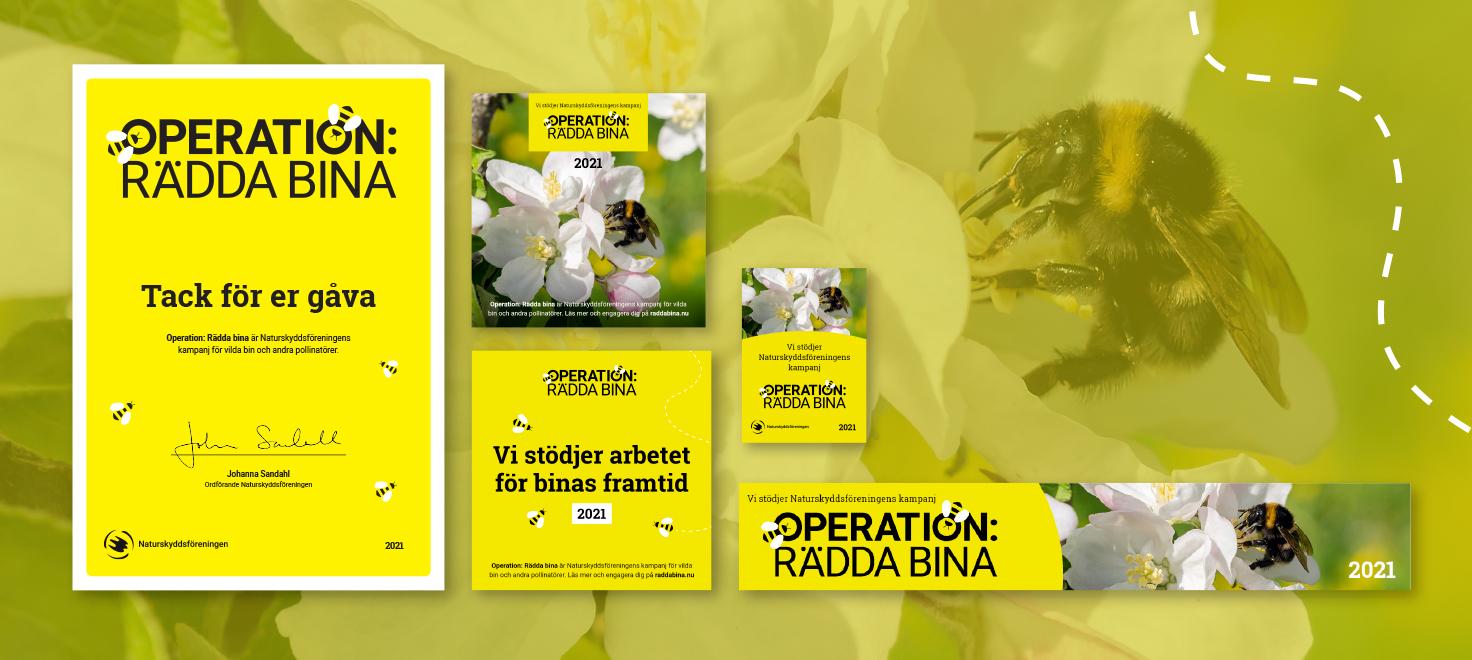 Operation Rädda bina, företag, företagsgåva, materialpaket,