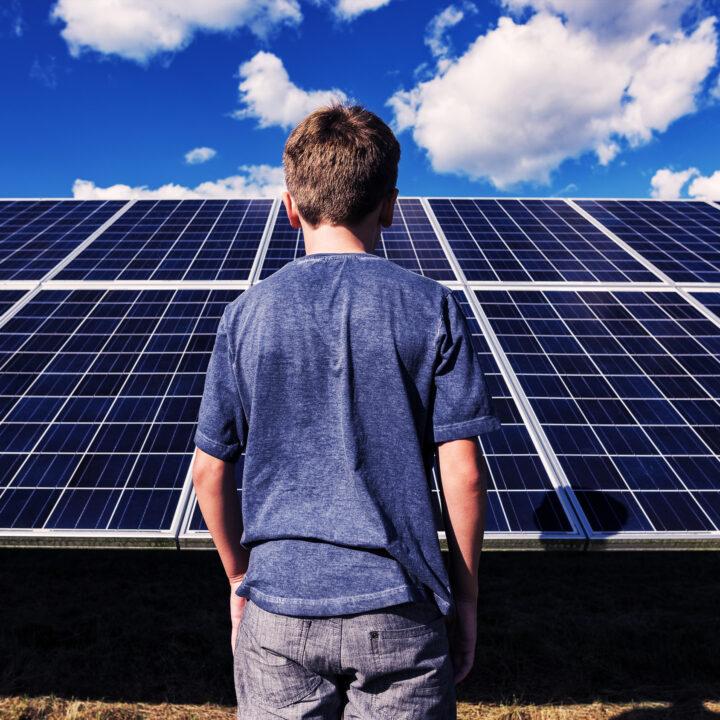 solcell, solpanel, solenergi, barn, vad, är, energi, skolövning