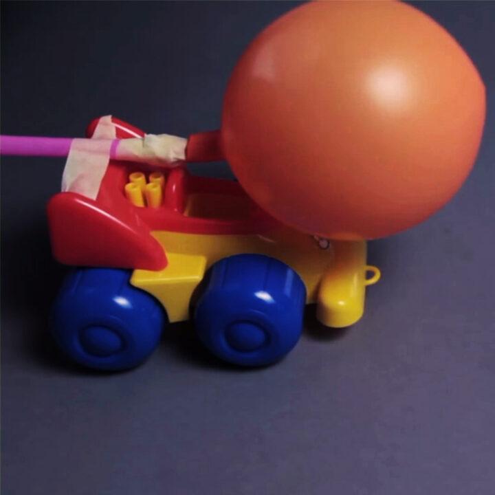 ballongbilen, experiment