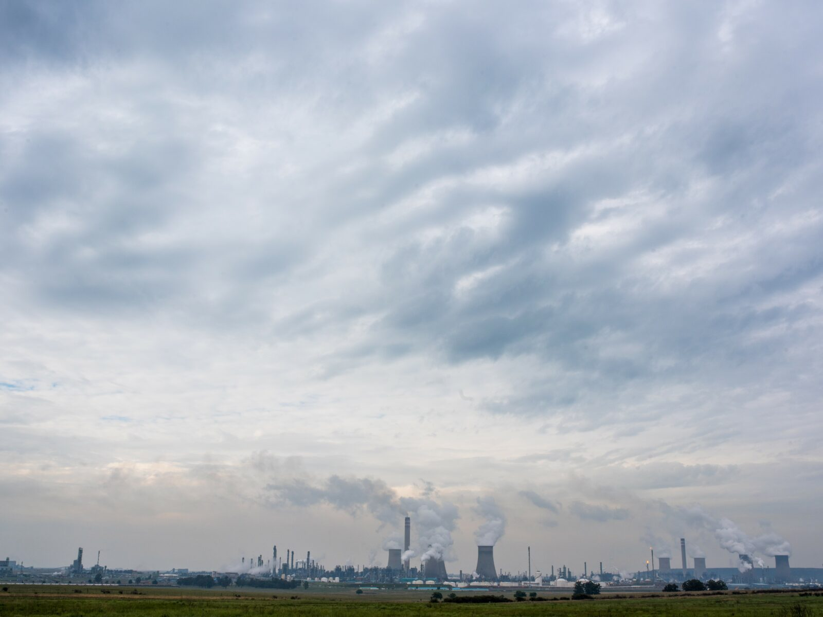 Sydafrika, Afrika, CER, miljögifter, hälsa, silhuett, himmel, rök