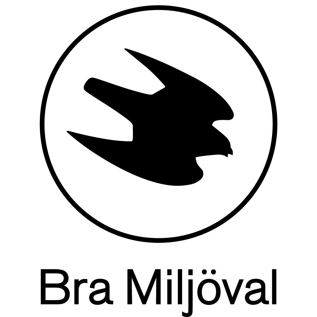 logotyp, svart, bold, bra-miljöval