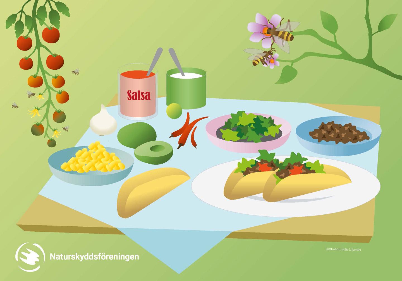 tacomiddag, taco, tacofredag, utan, bin