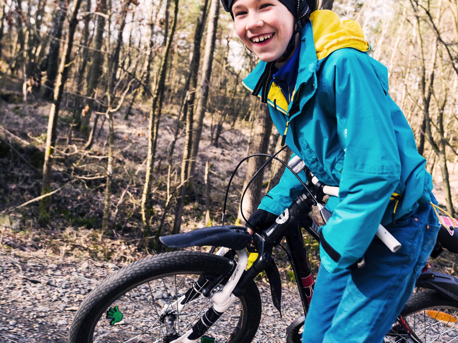 allemansrätt, allemansrätten, cykel, barn, glad, cykla
