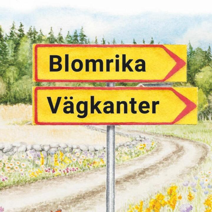 biologisk mångfald, blommande vägkanter, vägkant, trafikskylt, pollinatörer, skapa äng, blomrika vägkanter