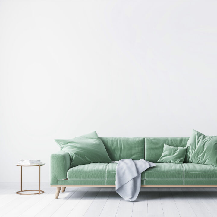 Soffa, möbler, inredning, mintgrönt, inomhus, prylar, vardagsrum, design, textilier, filt, soffbord